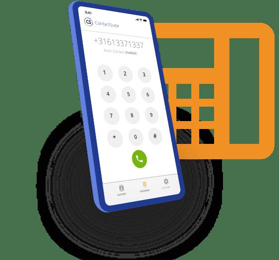 Zakelijk mobiel bellen via de App van ContactMakers